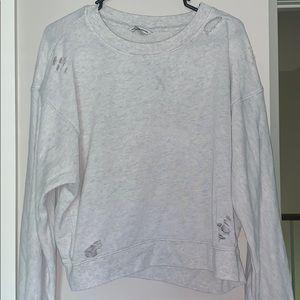 distressed like gray sweatshirt